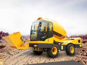 3.5m3 self loading mobile concrete mixer